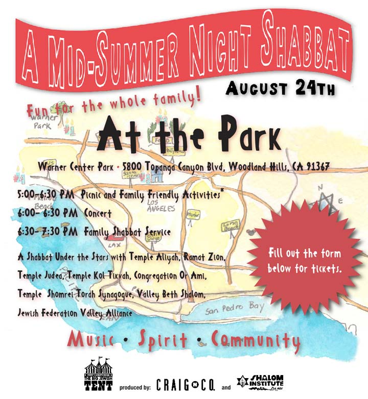 A Mid-Summer Night Shabbat at the Park